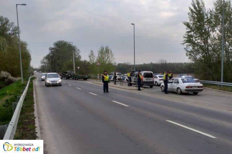 Közúti ellenőrzés Vásárosnaményban – A cél a balesetek számának csökkentése