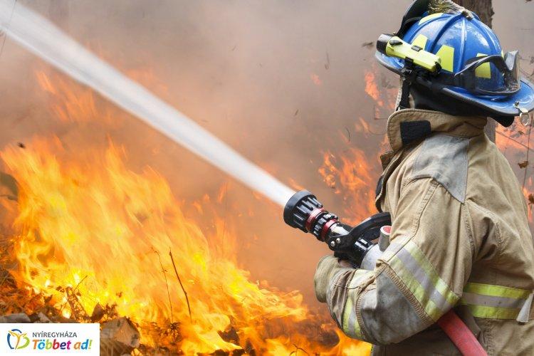 Vasárnap tizennégy vegetációs tűznél avatkoztak be Szabolcs-Szatmár-Bereg megye tűzoltói