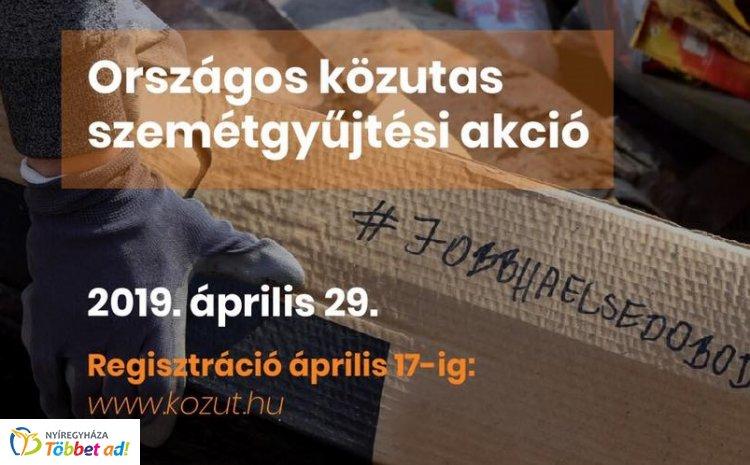 Már csak egy napig lehet jelentkezni a Magyar Közút szemétgyűjtési akciójára