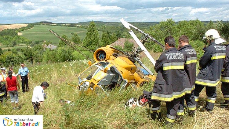 Halálos helikopterbaleset történt Epöl és Máriahalom között szombaton kora délután