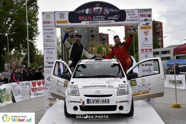 Nyíregyházi pilóta a kategória élén - dobogós hely a Miskolc Rallyn