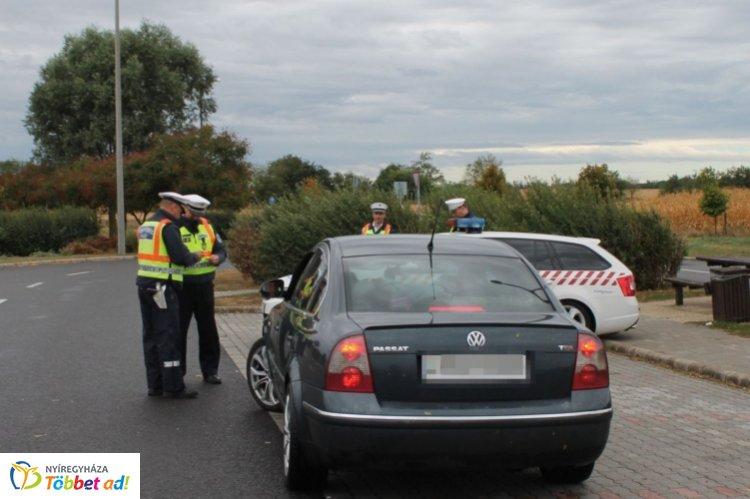 Közlekedésrendészeti ellenőrzést tartottak az M3-as autópályán