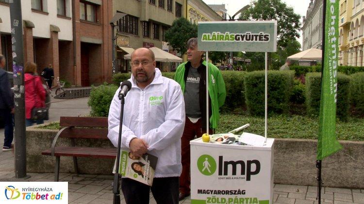 Szoboszlay György péntek délelőtt tartott sajtótájékoztatót Nyíregyházán
