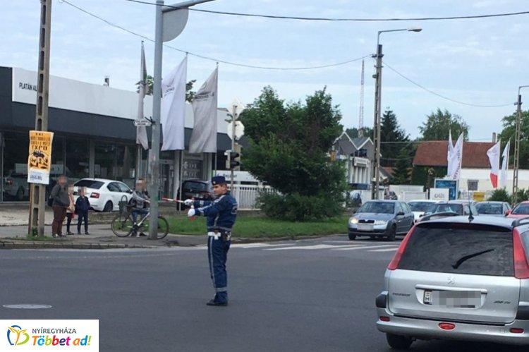 Országos megmérettetésre készülnek a szabolcsi rendőrök, karos forgalomirányítás várható