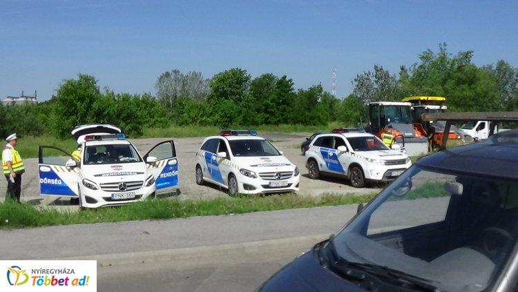 A város több pontján is ittasság ellenőrzést tartottak ma a nyíregyházi rendőrök