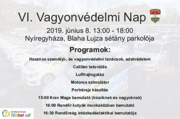 Vagyonvédelmi Napra várják az érdeklődőket Nyíregyházán – Programok reggeltől estig!