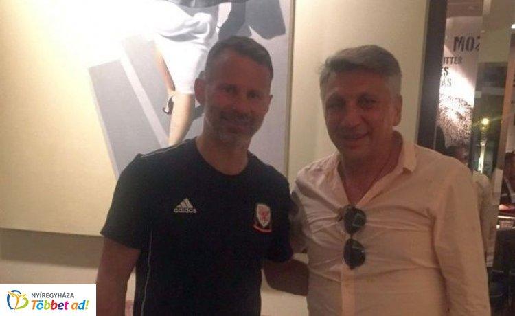 A manchesteri legendával vacsorázott a Nyíregyháza Spartacus vezetőedzője