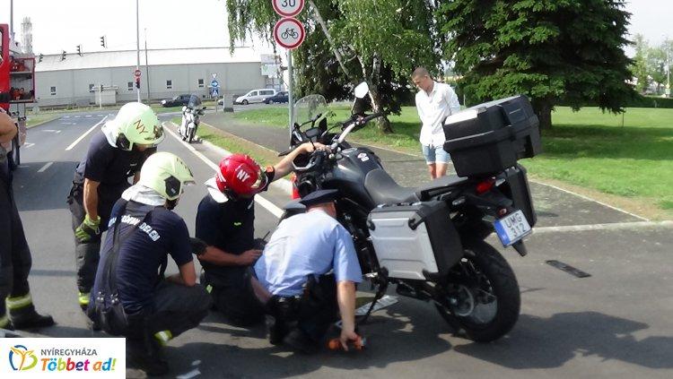 Motoros és haszonjármű ütközött a Törzs utcán péntek délelőtt