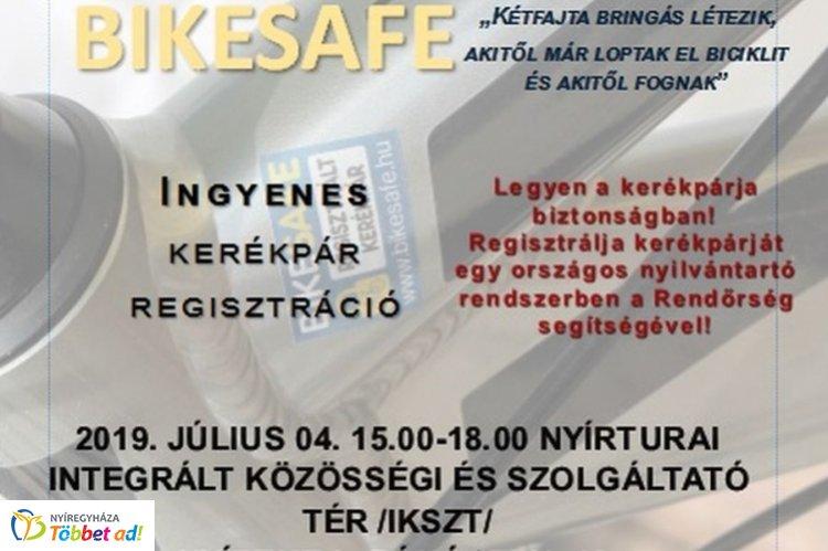 BikeSafe kerékpár-regisztráció – Legközelebb Nyírturán várják az érdeklődőket