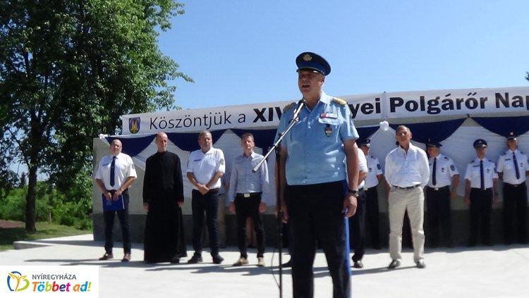 Elismerések és gépkocsi átadás a Megyei Polgárőr Napon Máriapócson