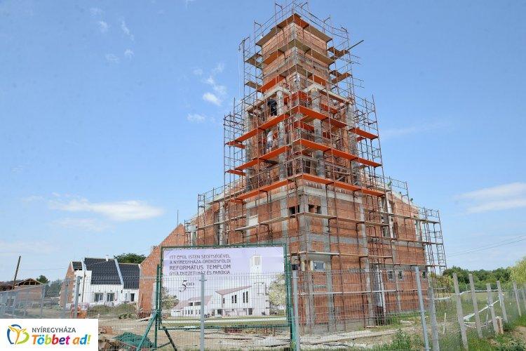 Év végére elkészülhet a 250 hívőt befogadó református templom is