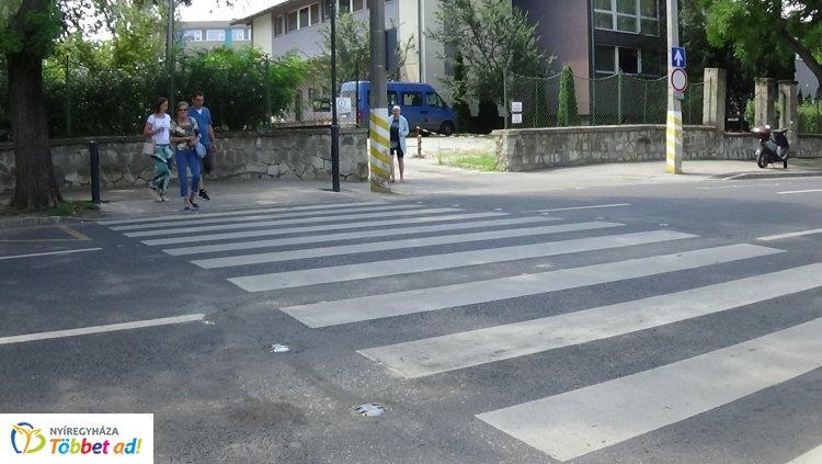 Újabb okos zebra városunkban!  - Ezen a helyen is nagy szükség volt rá.