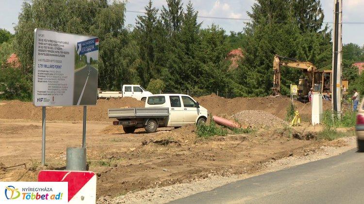 Fejlesztik a 3822-es út, azaz a Nyírszőlős, Kótaj felé vezető út egy jelentős szakaszát!