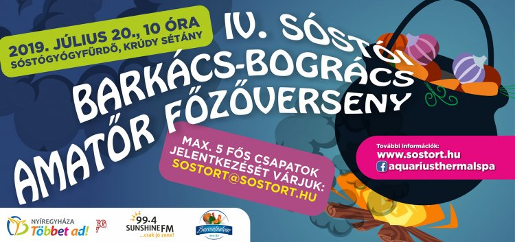 IV. Sóstói Barkács-Bogrács Amatőr Főzőverseny – Szombaton irány Sóstó!