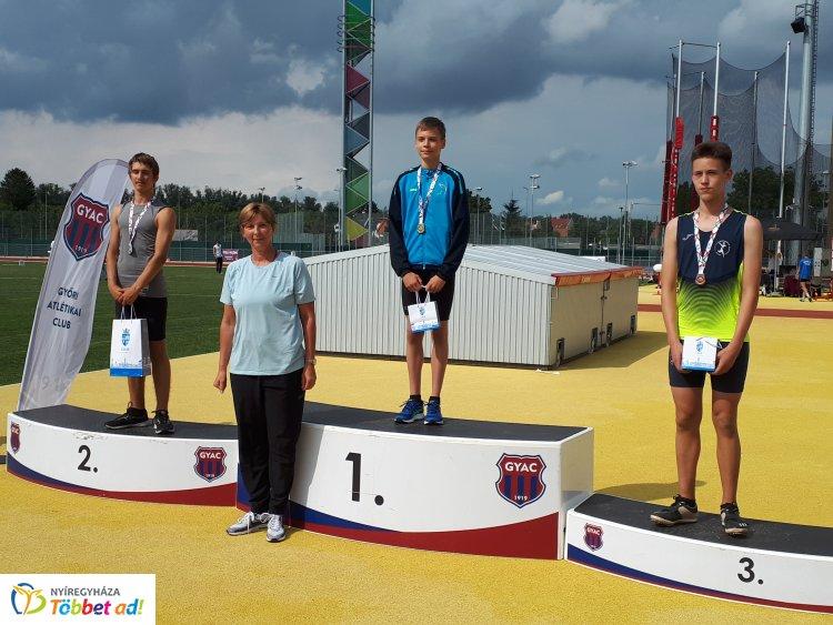 Bajnoki címek és egyéni csúcsok - jól szerepeltek Győrben a fiatal atléták