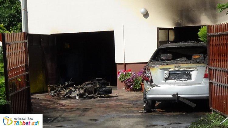 Személyautó és elektromos roller lángolt Nyírpazonyban, mesterlövészek is érkeztek