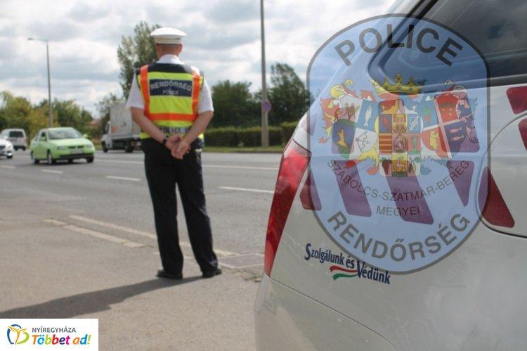 Közlekedésbiztonsági ellenőrzés Nyíregyházán – Öt ittas sofőrt kaptak el