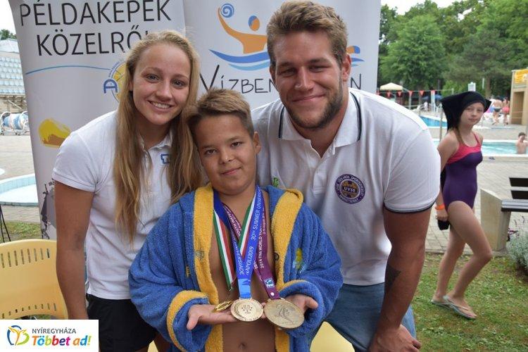 Ifjúsági világbajnok és LEN Kupa győztes  - vízilabdások látogatták meg az Aqua SE-t