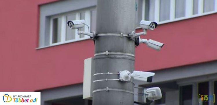 Tíz új belvárosi kamerával bővült a nyíregyházi térfigyelő rendszer