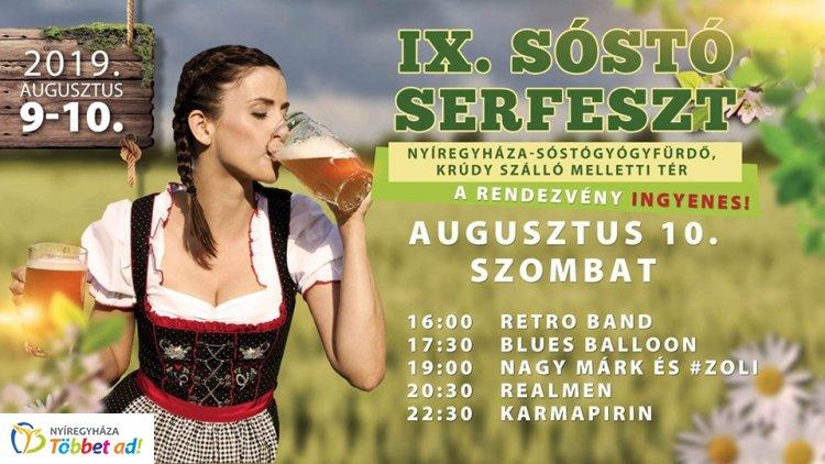 IX. SóstóserFeszt - Igazi nyári program Sóstón, a Krúdy szálló melletti téren
