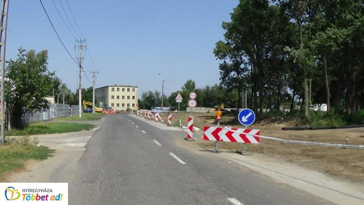 Zajlanak a 36-os főút körforgalmának építési munkálatai, forgalomkorlátozás van érvényben