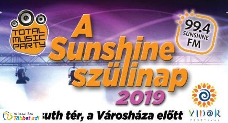 Sunshine Total Music Party – A Szülinap 2019! Augusztus 31-én a Kossuth téren!