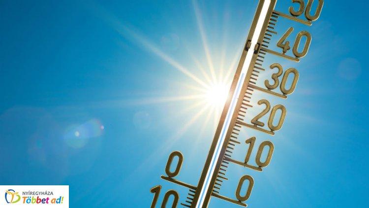 Első- és másodfokú figyelmeztetéseket adtak ki a hőség miatt