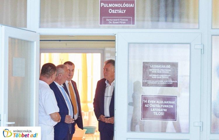 Befejeződött a Pulmonológiai Osztály felújítása a Sóstói úti kórházban