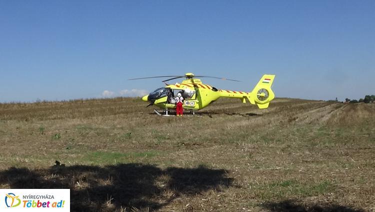 Halálos baleset – Mentőhelikopterrel érkezett a segítség, de már nem tudták megmenteni