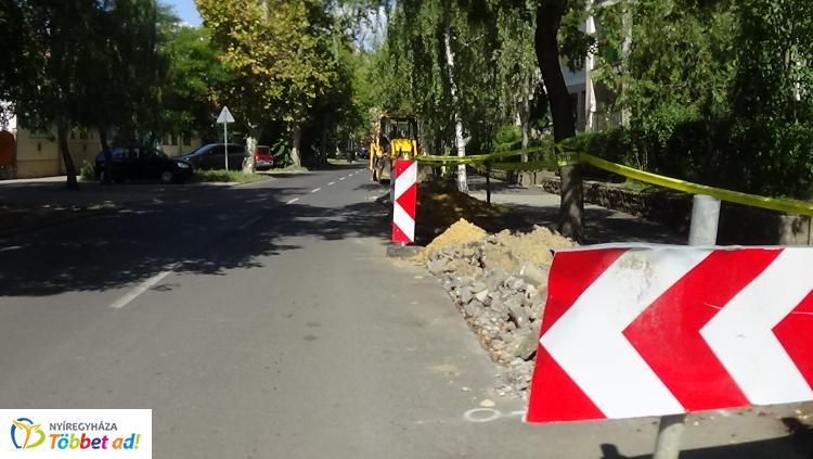 Megújul a Szarvas utca Vécsey utca és Móricz Zsigmond közötti szakasza