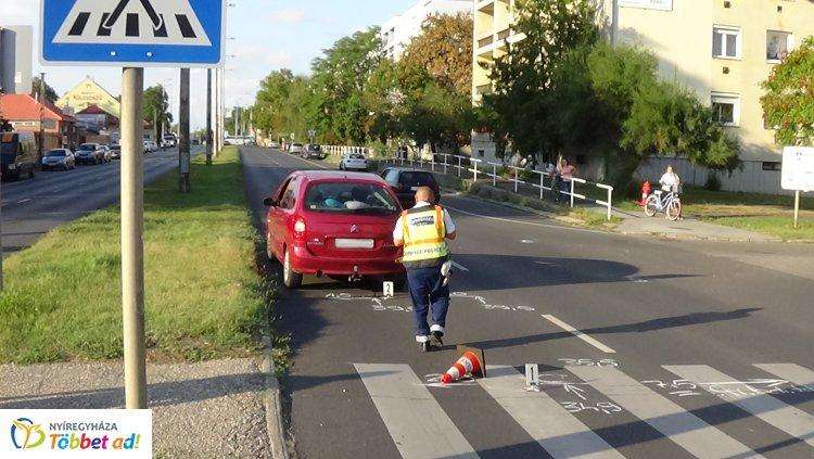 Gyalogost gázoltak el a hétvégén a Kert utca egyik átkelőhelyén, súlyosan megsérült