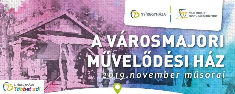 A Városmajori Művelődési Ház novemberi programajánlata - koncertekkel, kiállításokkal