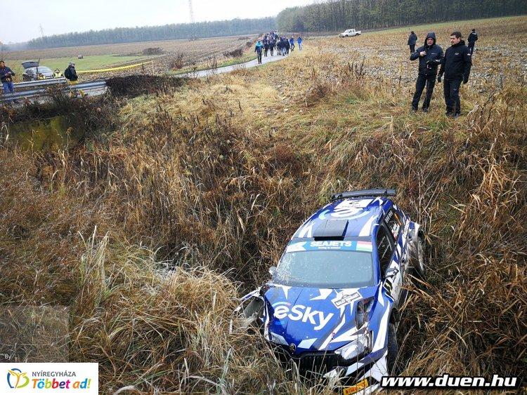 Drámával indult a Rally EB - Lukasz Habaj hibázott a kvalifikáción, és összetört az autója