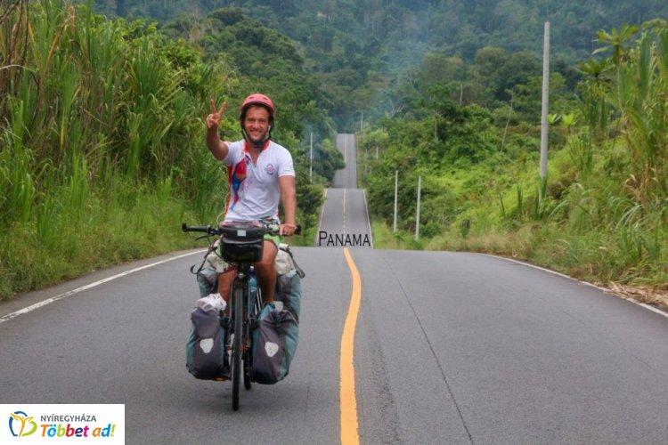 Világjáró bicós Nyíregyházán: megtanultam bízni magamban az úton!