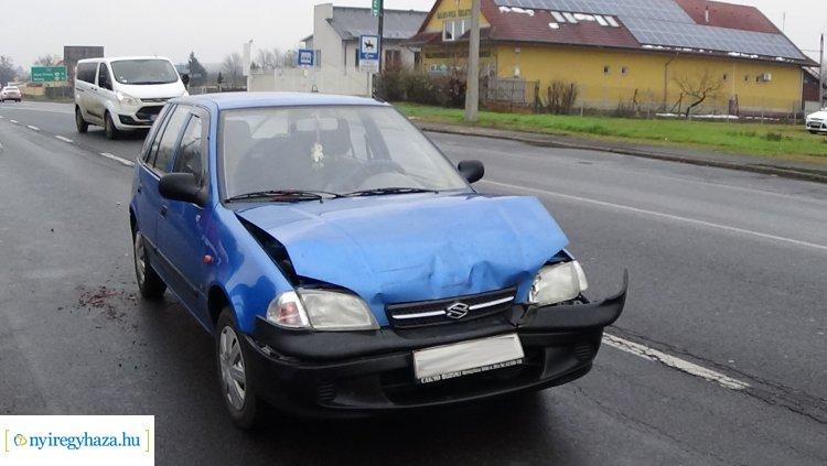 Ráfutásos baleset történt hétfőn a Pazonyi úton, fokozott figyelemmel közlekedjenek!