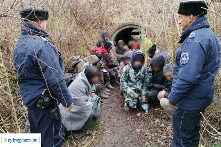 Újabb húsz illegális migránst fogtak el a határnál, Ártánd külterületén