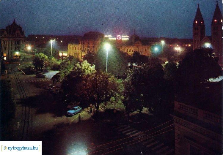 Folytatódik a Retró Nyíregyháza sorozat – A Kossuth tér éjszakai fényei 1969-ben