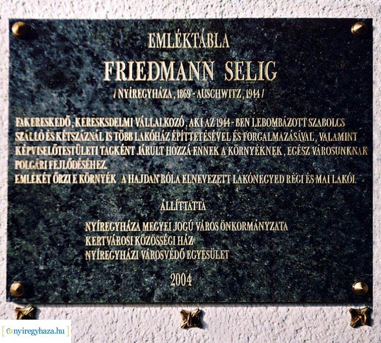 A Friedmann-telep névadójáról - Tudja Nyíregyháza melyik részén volt?