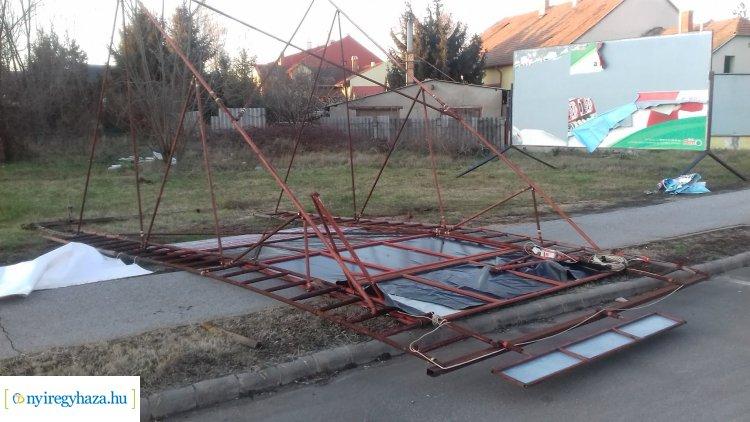 Viharos szél – Több mint negyven esethez vonultak a megye tűzoltói