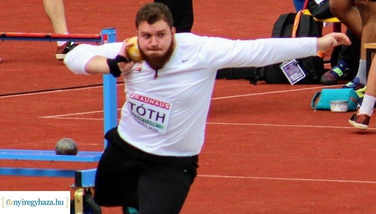 Tóth Balázs nyerte a súlylökést a fedettpályás országos bajnokságon