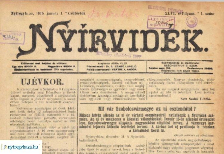 95 éve a nyíregyházi nyomdászat ipari fejlődéséről cikkezett a Nyírvidék