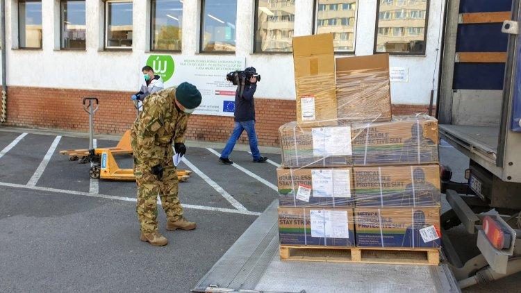 Megérkeztek a védőfelszerelések a nyíregyházi Jósa András Oktatókórházba!