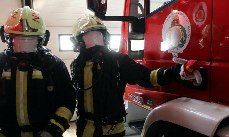 Húsvéti bevetés – Tűzoltónyulakat és húsvéti kosarakat kerestek a nyíregyházi tűzoltók