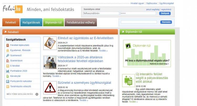 Schanda: ajánlott rendszeresen nézni a felvi.hu-t – Hasznos információk a felvételizőknek