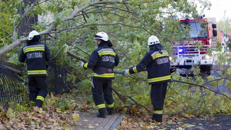 Még kedden is volt teendőjük a hétvégi vihar után megyénk tűzoltóinak