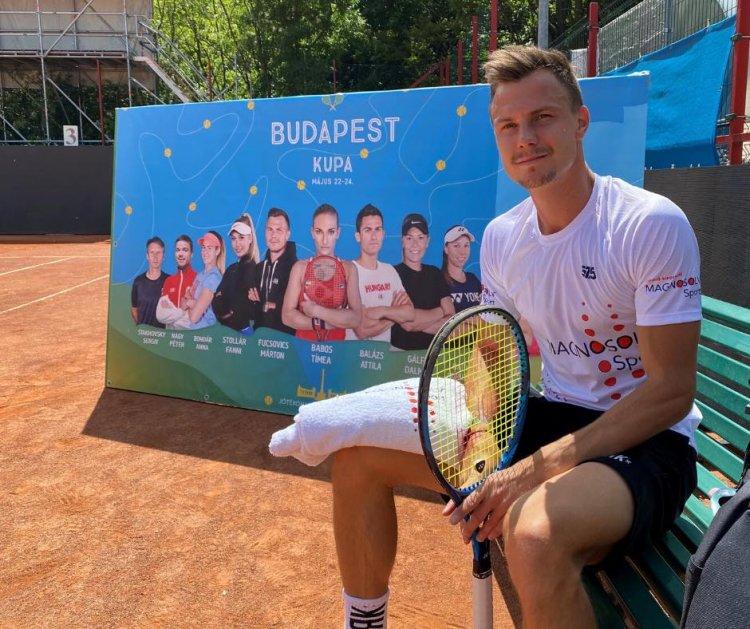 Újra tenisz - Győzelemmel kezdett Fucsovics Márton a Budapest-kupán