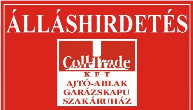A Coll Trade Kft. munkatársat keres ÉRTÉKESÍTÉSI munkakörbe