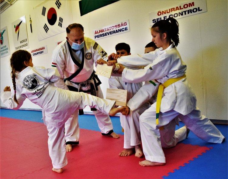 Nyílt  taekwondo edzés - A Bujtosi Városligetben bemutatót tartanak