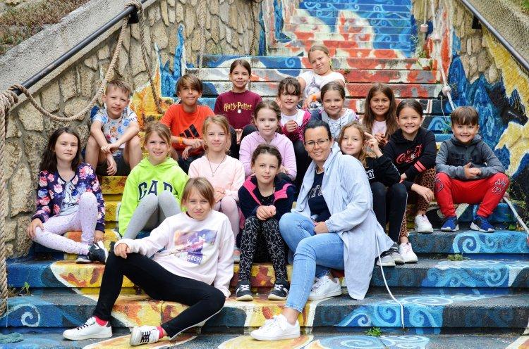A Nyíregyházi Kodály Zoltán Általános Iskola diákjai a Szigligeti táborban