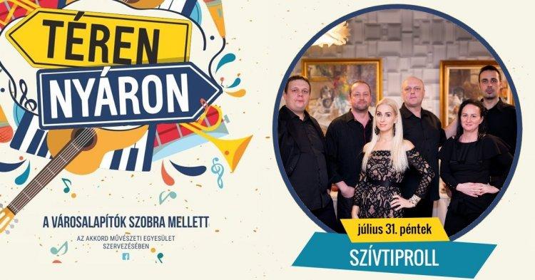 Téren-nyáron pénteken is! Érkezik egy újabb közönségkedvenc, a Szívtiproll zenekar!